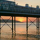 Mid-summer dawn over Paignton beach by Anna Goodchild