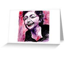 Edith PIAF, La vie en rose Greeting Card