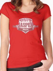 Jasper Alberta Ski Resort Women's Fitted Scoop T-Shirt