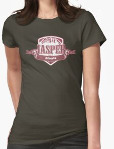 Jasper Alberta Ski Resort Womens Fitted T-Shirt