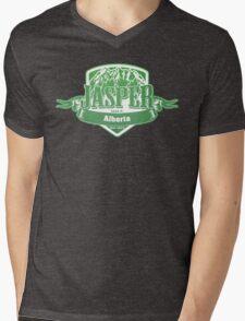 Jasper Alberta Ski Resort Mens V-Neck T-Shirt