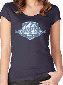 Jasper Alberta Ski Resort Women's Fitted Scoop T-Shirt