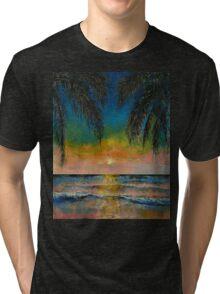 Tropical Sunset Tri-blend T-Shirt