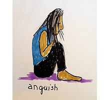 Daily drawing two - Anguish Photographic Print
