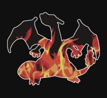 Charizard Flames silhouette by LUUUL