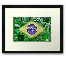 circuit board Brazil Framed Print