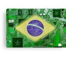circuit board Brazil Canvas Print