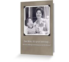 Birthday for Mom, Humorous Vintage Photo Card Greeting Card