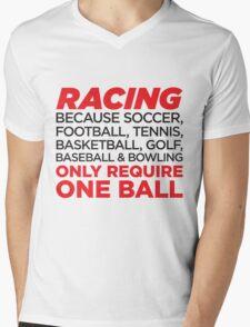 Racing Mens V-Neck T-Shirt