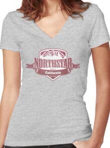 Northstar California Ski Resort Women's Fitted V-Neck T-Shirt
