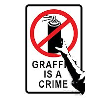 Banksy - Graffiti is not a Crime Photographic Print