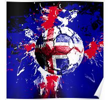 football Iceland Poster