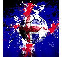 football Iceland Photographic Print