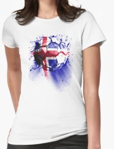 football Iceland Womens Fitted T-Shirt