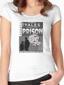 TALES FROM THE PRISON(b/w) Women's Fitted Scoop T-Shirt