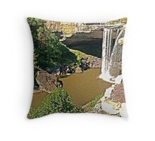 Noccalula Falls Side View Throw Pillow