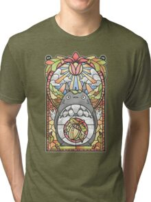 Stained Glass Forest Spirit Tri-blend T-Shirt