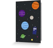 TARDIS In Space Greeting Card