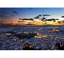 Athens around sunset Photographic Print