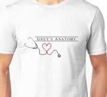 Grey Anatomy + Stethoscope  Unisex T-Shirt