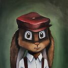 Timothy 'Button' Rabbit by kaydi-did-art