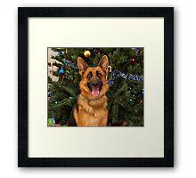 Kiera at Christmas Framed Print