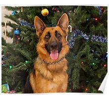 Kiera at Christmas Poster