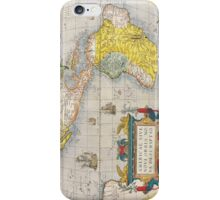 Antique Map of Western Hemisphere Circa 1579 iPhone Case/Skin