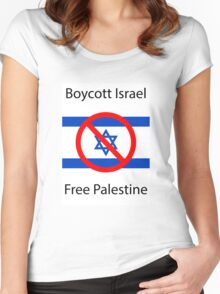 Boycott Israel Women's Fitted Scoop T-Shirt