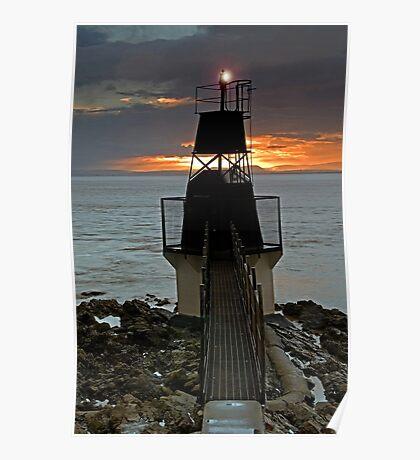 Battery Point lighthouse, Portishead, Bristol Poster
