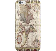 Antique Map of the Known World Circa 1652 iPhone Case/Skin