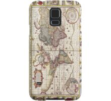 Antique Map of the Known World Circa 1652 Samsung Galaxy Case/Skin