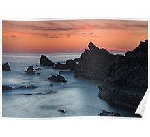 Hartland Quay at sunset Poster