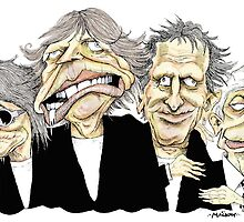 The Rolling Stones by MacKaycartoons