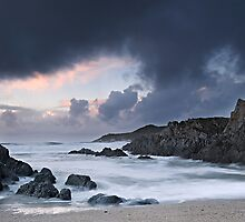 Storm over Barricane Beach by Davidpstephens