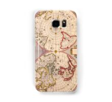 Antique Map of North and South Hemispheres Circa 1695 Samsung Galaxy Case/Skin
