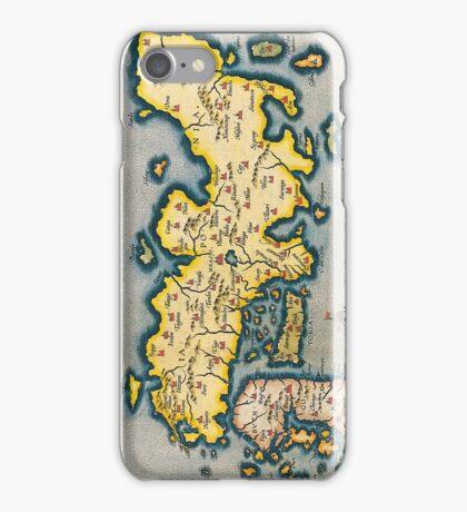 Antique Map of Japan Circa 1590 iPhone Case/Skin