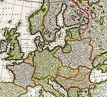 Antique Map of Europe by pjwuebker