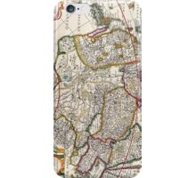 Antique Map of Asia Circa 1632 iPhone Case/Skin