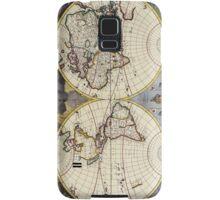 17th Century Antique Map of the World Samsung Galaxy Case/Skin