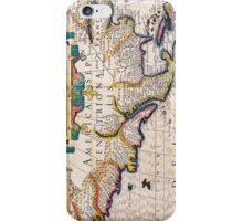 17th Century Map of North America iPhone Case/Skin