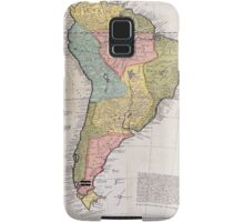 17th Centruy English Antique Map of South America Samsung Galaxy Case/Skin