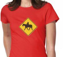 Headless Horseman Crossing Womens Fitted T-Shirt