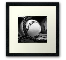 ball and mitt Framed Print