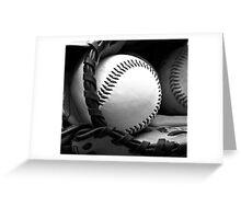 ball and mitt Greeting Card