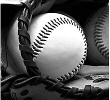 ball and mitt Photographic Print
