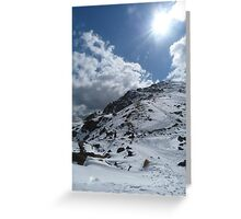 Sun on the Mountains Greeting Card