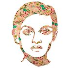 Twiggy Floral 60's Print White Phone Case  by georgiagraceart