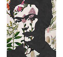 Frida Kahlo Floral Print Phone Case  by georgiagraceart