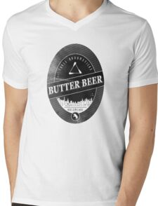BUTTERBEER - Hogsmede Brew Black Label  Mens V-Neck T-Shirt